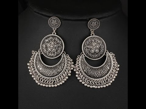 Oxidised Silver Earring Jhumka Designs Unique Jewellery Youtube