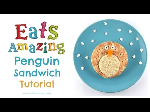 Fun Food Art - How to make a Penguin Sandwich (Ad)