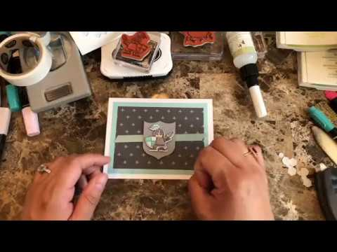 How to make a quick and easy card using Myths and Magic suite    knight