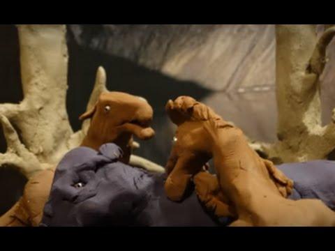 Dromaeosaurus v Pachycephalosaurus (stop motion)