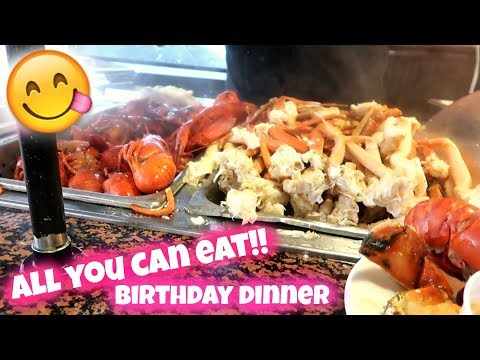 ORLANDO VLOG | ALL YOU CAN EAT SEAFOOD | BIRTHDAY DINNER