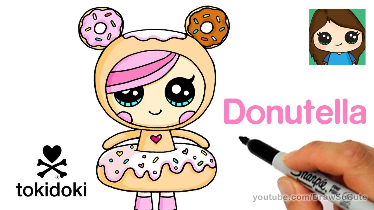 How To Draw Donutella Easy Tokidoki Youtube