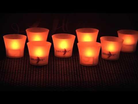 LED-Leinwandbild mit romantischem Kerzenflackern
