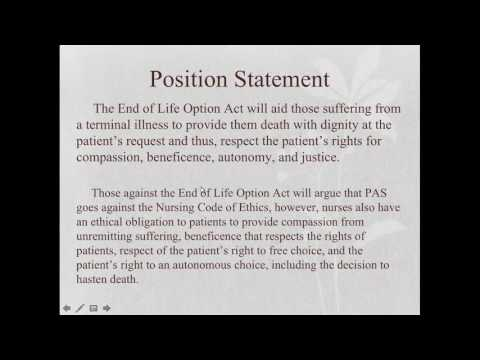 End of Life Option Act Group Presentation