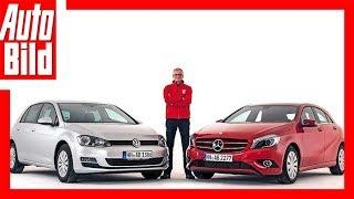 VW Golf 1.4 TSI vs. Mercedes A-Klasse (A 180) Dauertest/Test/Review/Details/Erklärung