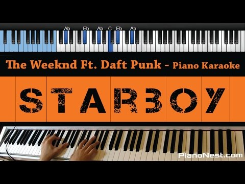 The Weeknd Ft. Daft Punk - Starboy - LOWER Key...