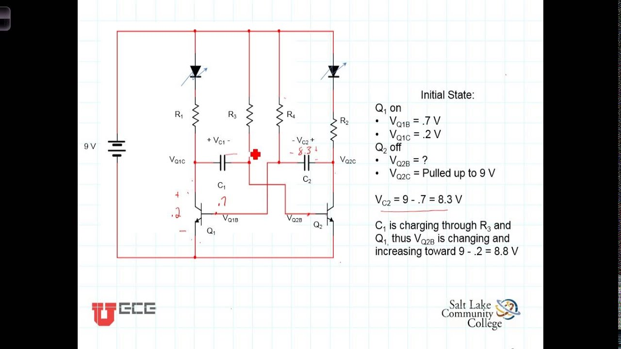Astable Multivibrator And Astable Oscillator Circuit