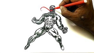 How to Draw Venom from Spider-Man