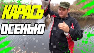 Рыбалка осенью в Алтайском крае ловля карася на удочку на реке бурла  2018