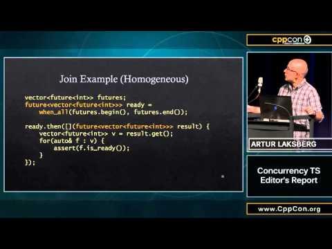 """CppCon 2015: Artur Laksberg """"Concurrency TS Editor"""