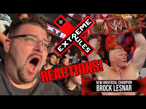 WWE Extreme Rules PPV LIVE ARENA REACTIONS Results And Review BROCK LESNAR CASHES IN