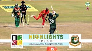 Zimbabwe vs Bangladesh Highlights    3rd ODI    Bangladesh tour of Zimbabwe 2021