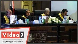 جامعة المستقبل تناقش أول رسالة ماجستير بالجامعات الخاصة