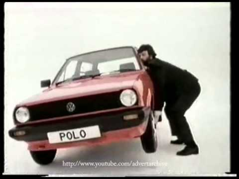 VW Polo from 3848 advert featuring Geoff Capes advert from 1983