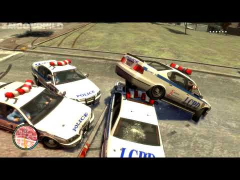 GTA IV - Surviving with a 6-Star Wanted Level - in locked areas of the game
