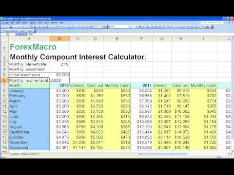Compound forex calculator
