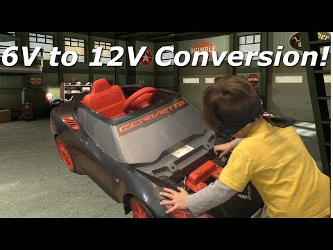 How To Make Your Power Wheels Faster! Converting 6V To 12V!