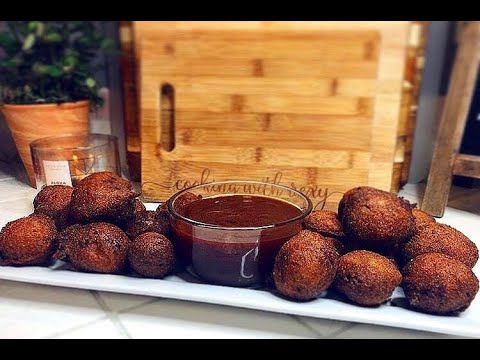 REXY'S JALAPEÑO HUSH PUPPIES & HONEY BBQ DIP (SWEET & SPICY LIKE ME)