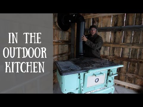 🔥Installing the Chimney to the Antiques Wood Cook Stove🔥
