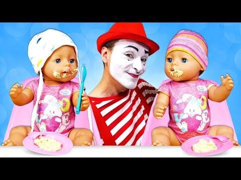 Куклы пупсики - Кормим Беби Бон - Смешное видео. Как различать близнецов? Как мама Беби Бон