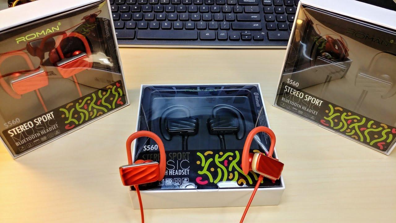 Roman S560 Wireless In-Ear Earphones  Giveaway X3   ( Bass Head device )