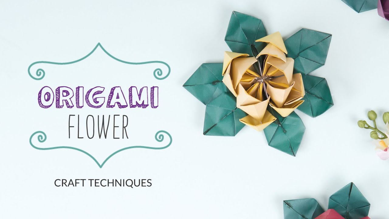 How to Make an Origami Flower | Craft Techniques