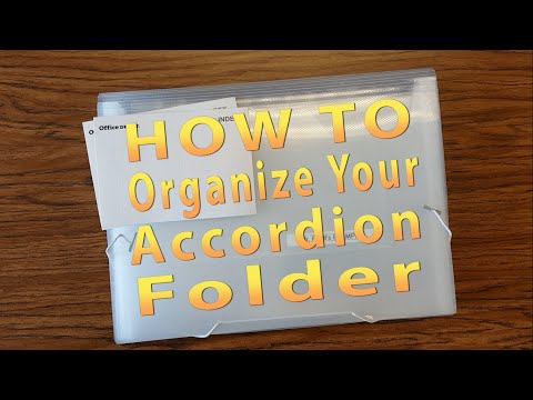 How To Organize Your Accordion Folder - Mr. Riedl