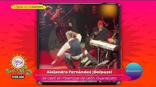 ¡Alejandro Fernández se cae de espaldas en pleno concierto! | Sale el Sol