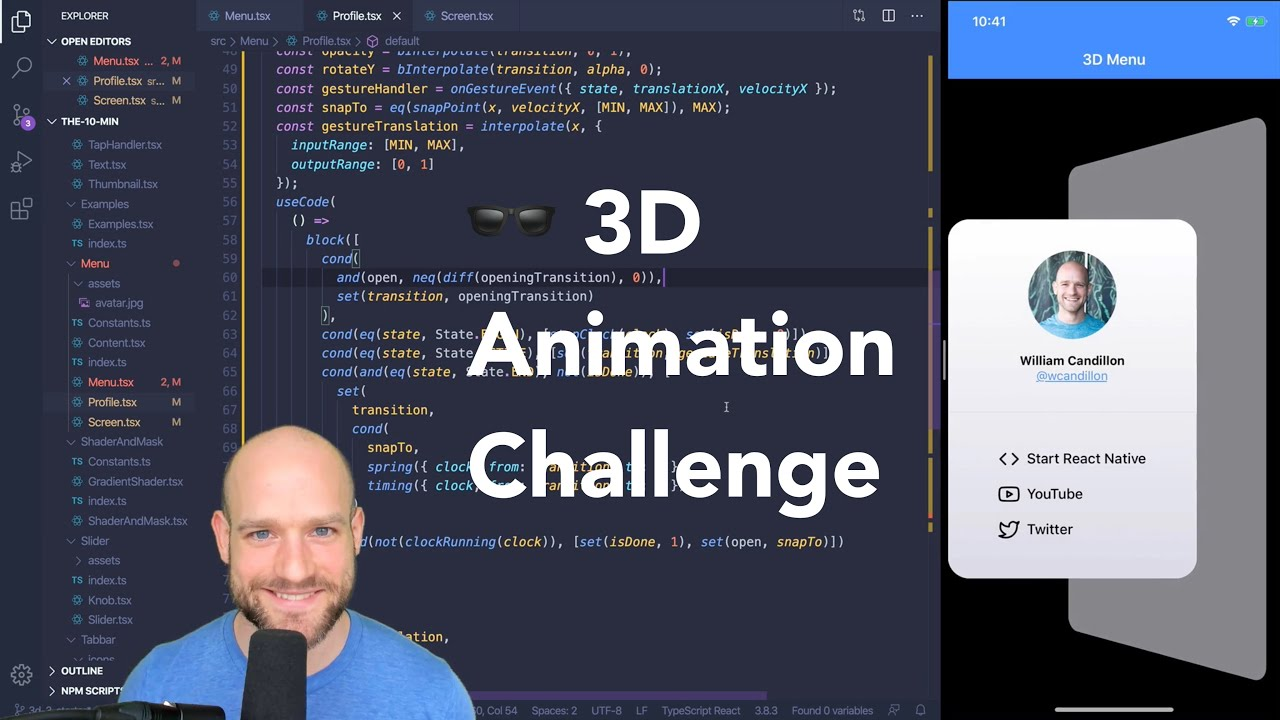 React Native 3D Animations Challenge