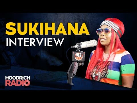DJ Scream - Sukihana Talks Cucumber Challenge & More on Hoodrich Radio with DJ Scream