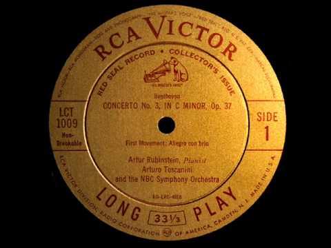 Beethoven / A. Rubinstein, October 29, 1944: Piano Concerto No. 3 in C minor - A. Toscanini
