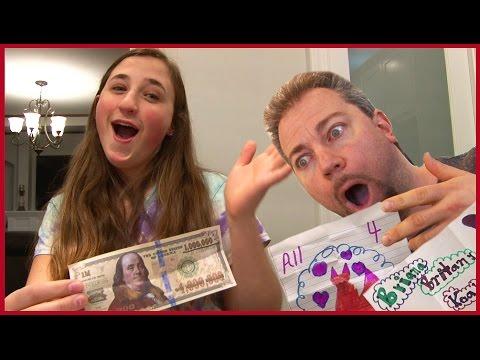 Girls Dad Falls Off His Chair Prank - Kids Fan Mail Big Surprise
