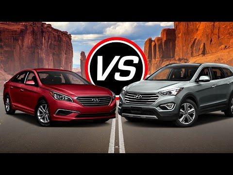 2016 Hyundai Sonata SE/Sport vs Santa Fe Sport - Spec Comparison!