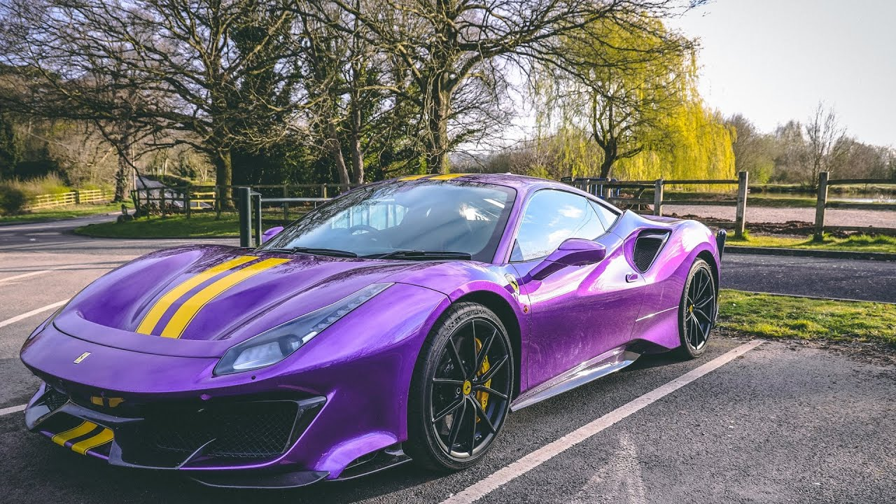 Driving the Best New Ferrari 488 Purple Pista to Work - YouTube