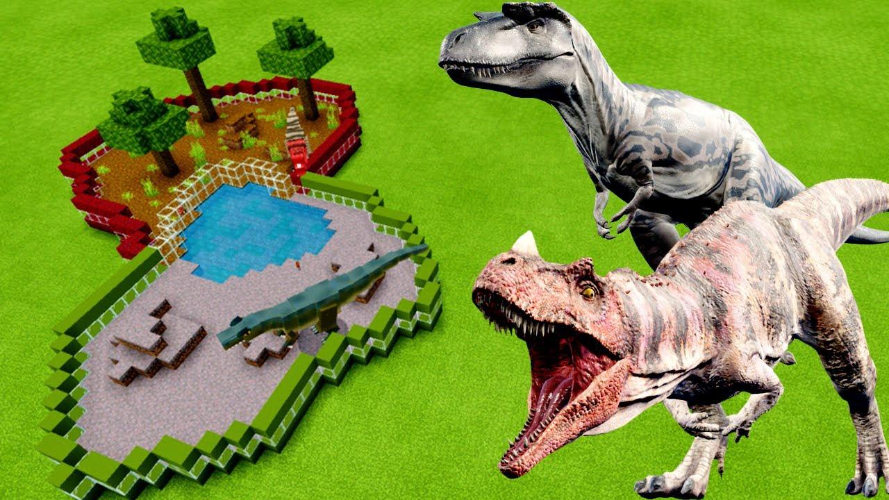 MCPE: How To Make an ALBERTOSAURUS & CERATOSAURUS FARM in Minecraft PE