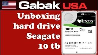 unboxing hard drive seagate 10tb enterprise