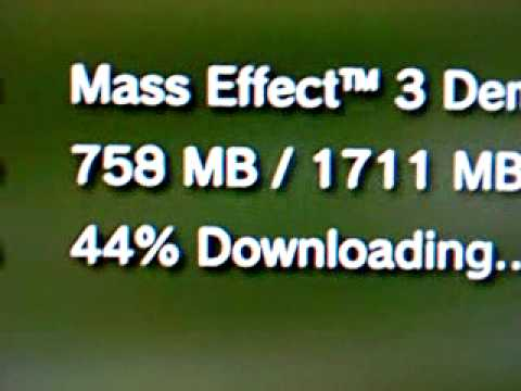 PSN downloads are FAST dawgs! Mass Effect 3 demo!  Awwwww yeah!