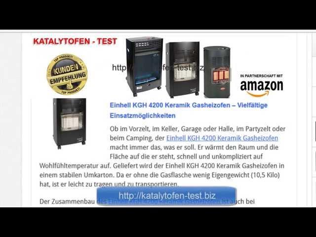 Katalytofen Test  - Einhell KGH 4200 Gasheizofen