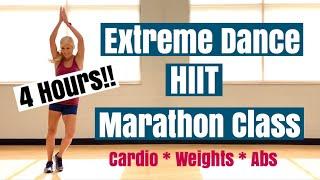 4 Hour 😱 Extreme Dance HIIT Marathon Class