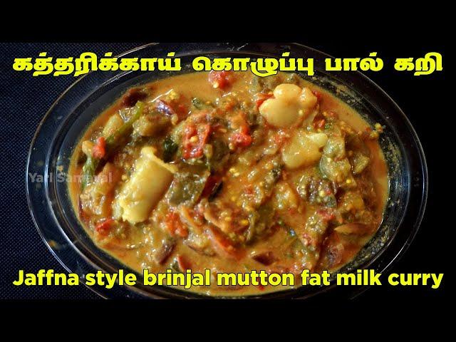 ஆட்டிறைச்சியோட இப்பிடி ஒரு கத்தரிக்காய் பால் கறி செய்து பாருங்க   Brinjal mutton fat milk curry