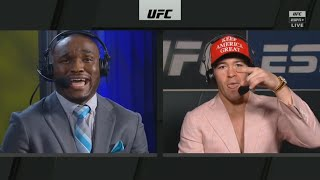 Colby Covington and Kamaru Usman HEATED ARGUMENT | ESPN MMA