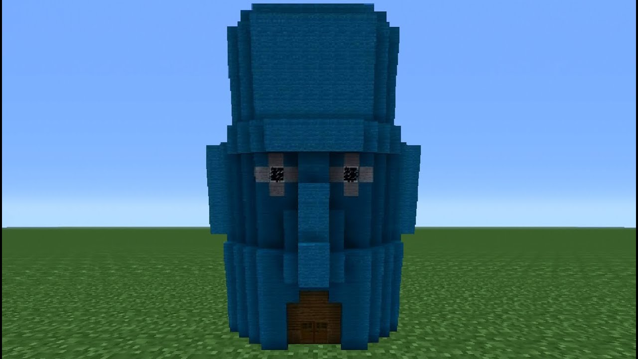 Minecraft tutorial how to make squidwards house youtube for How do you make a blueprint
