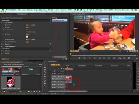 how to make a image opo out in adobe premire