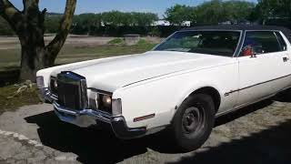 Lincoln Continental Mark IV 1972, 460 CuIn (7,5Liters) 500++ Hp -Out driving to...