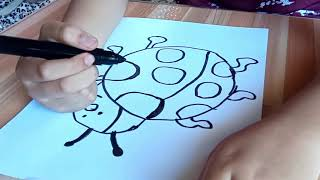 ladybug easy draw simple