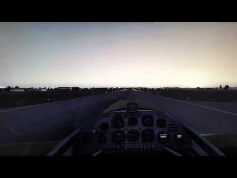 Early morning Landing at R.A.F Northolt P3d sim