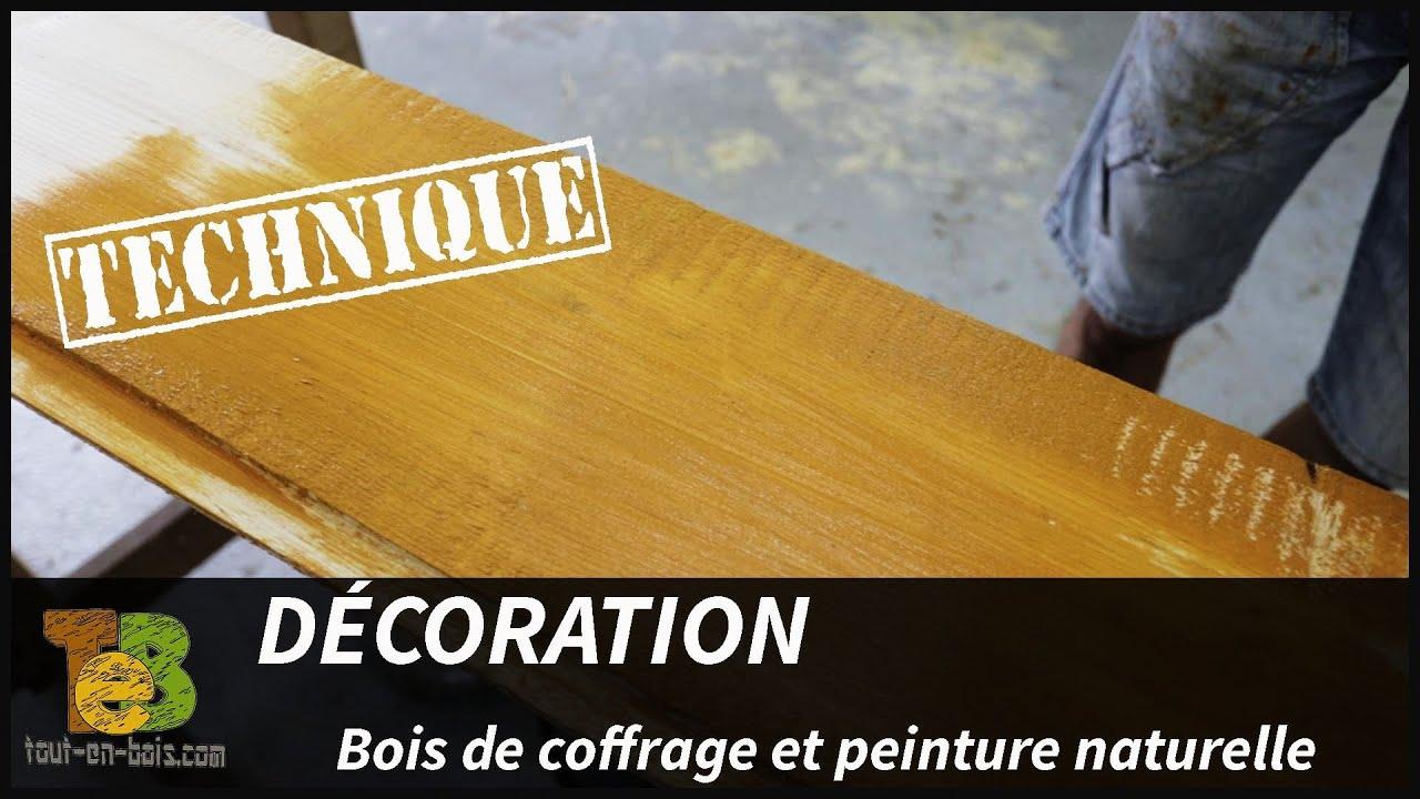 bois de coffrage et peinture naturelle une d coration bon march youtube. Black Bedroom Furniture Sets. Home Design Ideas