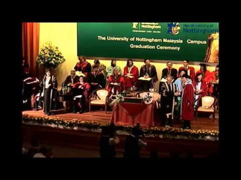 The University Of Nottingham Malaysia Campus Graduation Ceremony