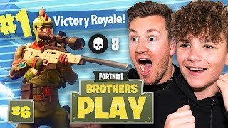 MY BROTHER IS THE NEW NINJA!? | BROTHERS PLAY FORTNITE #6