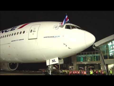Vuelo inaugural Air France París-Costa Rica